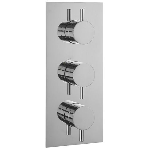 Metro vertical thermostatic shower bath valve