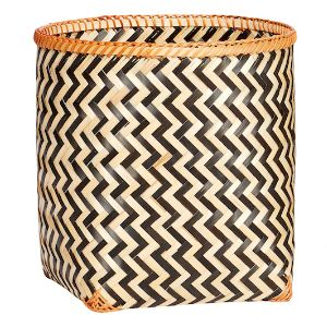 Giant Bamboo Geometric Basket - Small: These beautiful woven Bamboo Baskets in an eye catching Danish design are available in three generous sizes.  Perfect for a variety of storage in any room. The large size is perfect for laundry, cushions, throws etc and all three have plenty of room for toys, clothes, towels and products etc. Striking Scandinavian Design which is guaranteed to make a stylish impact in any setting.