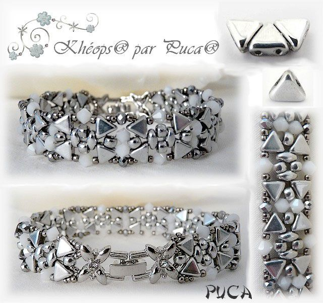 Bracelet Clara Khéops et rocaille Matubo c'è schema perles and co