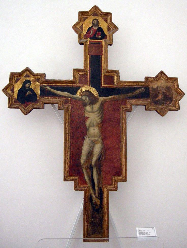 Pietro da rimini, crocifisso, prima, 1324-1338 гг. Palazzo Ducale di Urbino - Galleria Nazionale delle Marche.