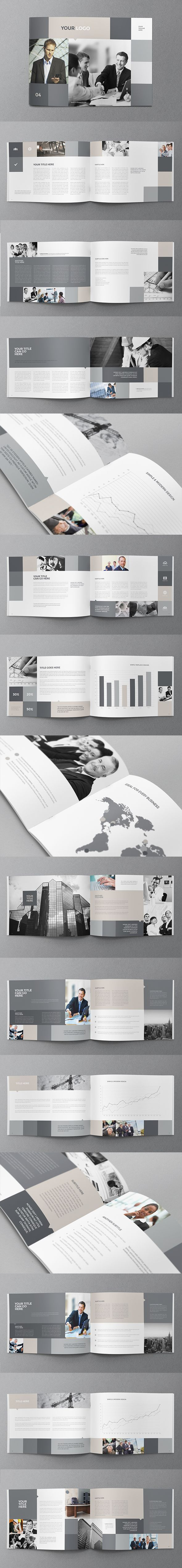 #portfolio Simple Business Grey Brochure. Download here: http://graphicriver.net/item/simple-business-grey-brochure/11682709?ref=abradesign #brochure #design