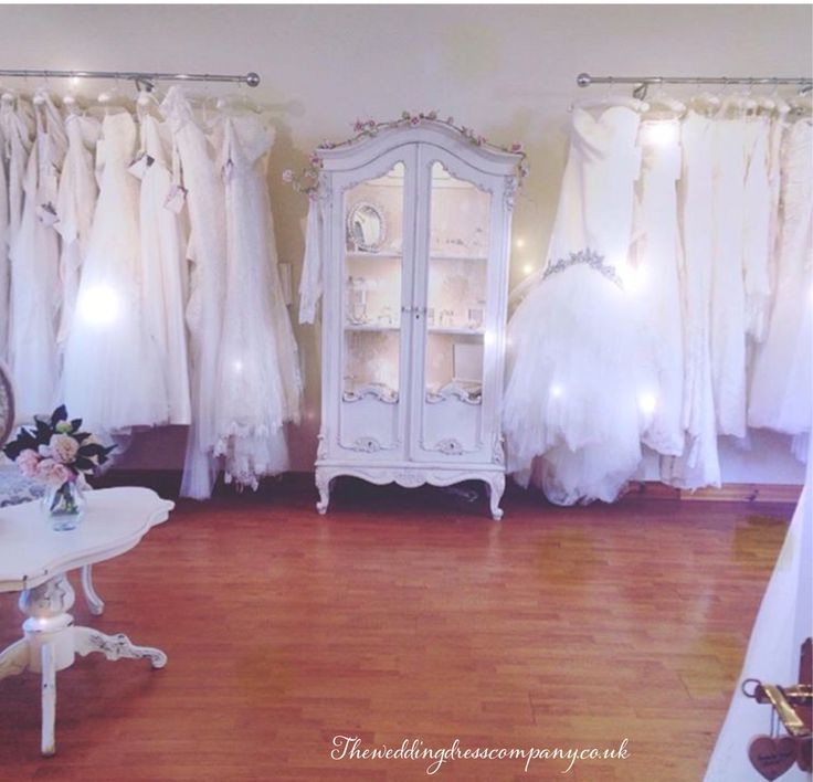 The wedding dress company in Corbridge bridal boutique shop near Newcastle and Sunderland. North east England with shabby chic decor