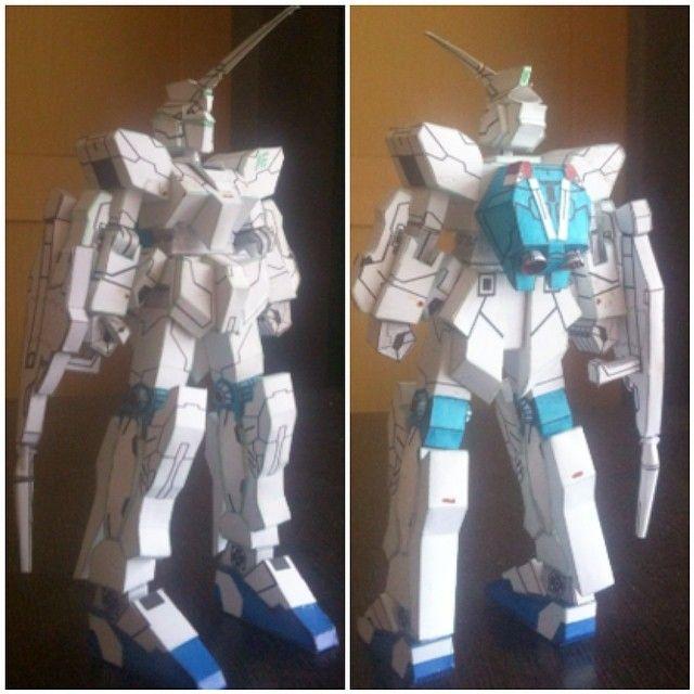 papercraft of Gundam Unicorn . #prakarya #papercraft #robot #gundam #gundamunicorn #paper #DIY