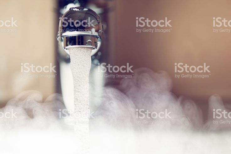 water tap with hot water steam royalty-free stock photo