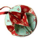 Ornament made of scrapbook paper