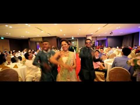 A Grand Entry made by Indian Bride in Singapore