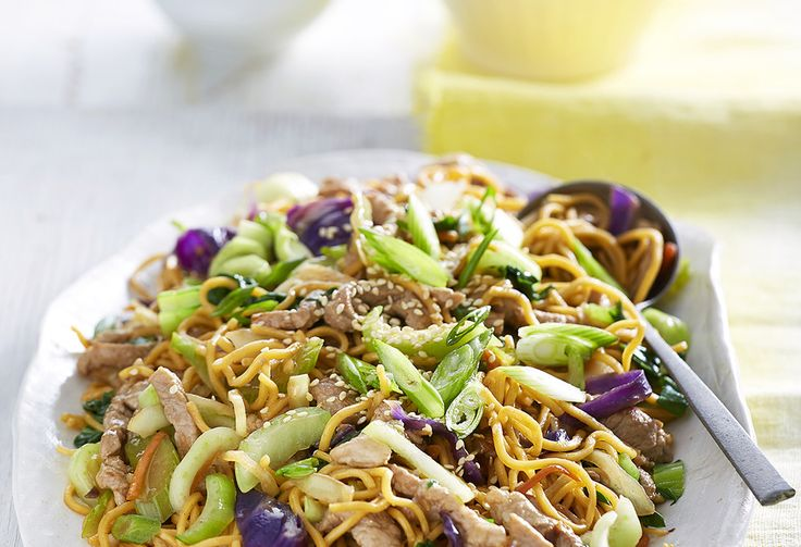 This classic chow mein is one of the simplest dishes for weeknight dinners – it's tasty too! The family will love the mixture of sauce flavours and juicy pork.