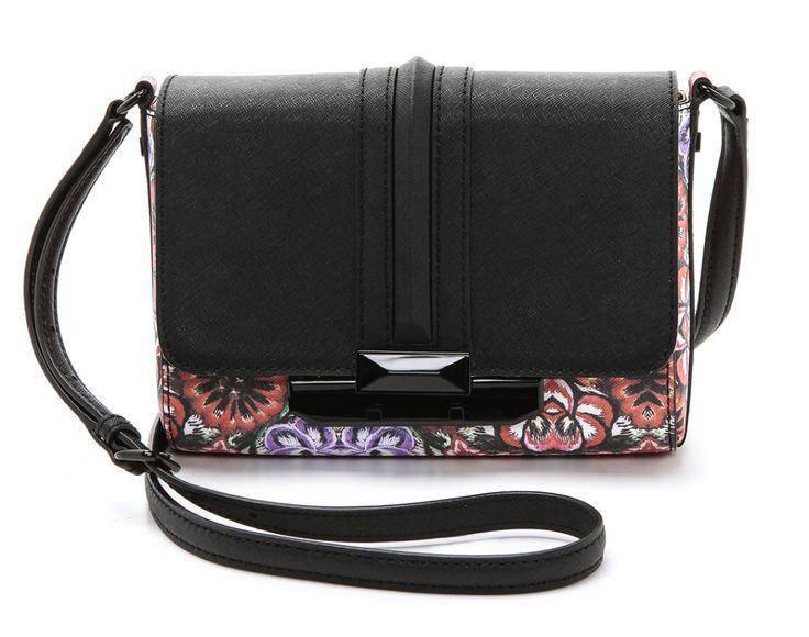 An edgier way to wear spring florals: Rebecca Minkoff floral crossbody bag: Crossbodi Bags, Rebecca Minkoff, Crosses Body Bags, Style Trends, Floral Crossbodi, Bags Envy, Accessories, Minkoff Floral, Floral Crosses