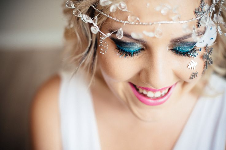 Snow prinses Lashart and make-up done by Clarita Smit www.claritasmit.co.za