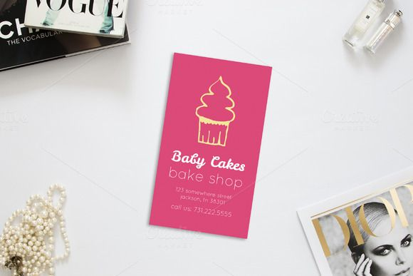 Cupcake Bakery Business Card by AllyJCreative on Creative Market