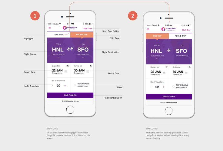 Hawaiian Airlines app Booking Redesign