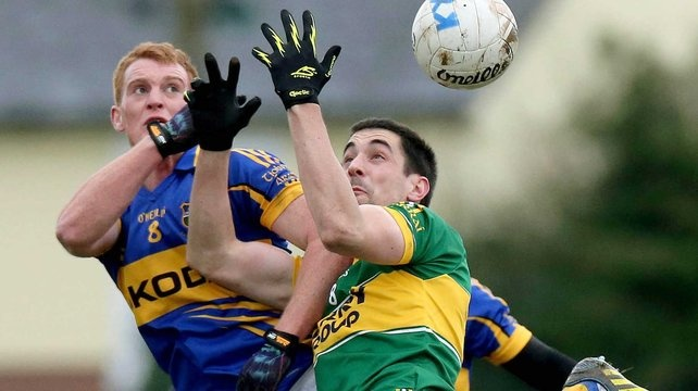 George Hannigan (Tipperary) and Anthony Maher (Kerry) in action in the 2013 McGrath Cup Final