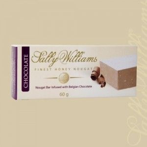 A box of 24 bars of Sally Williams Chocolate Infused Nougat. Gourmet nougat from a true culinary genius.