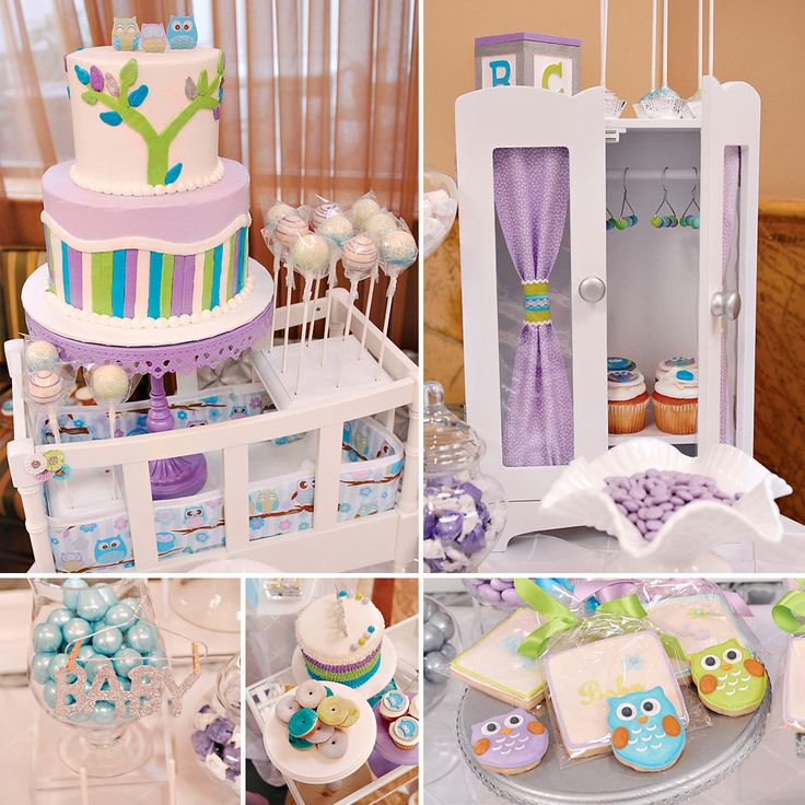 Adoable Pastel + Owl Inspired Dessert Table {Baby Shower Event} by Lavender Pudding on the blog today! #BabyShower