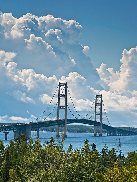 Mackinac Bridge - Michigan Never fails to take my breath away. An engineering marvel, and a beautiful experience every time.