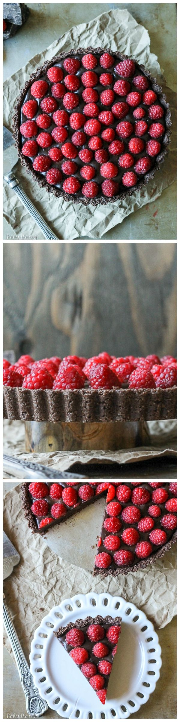 This No-Bake Raspberry Chocolate Tart comes together in just ten minutes! It's Paleo-friendly, gluten free, vegan, and refined sugar free.