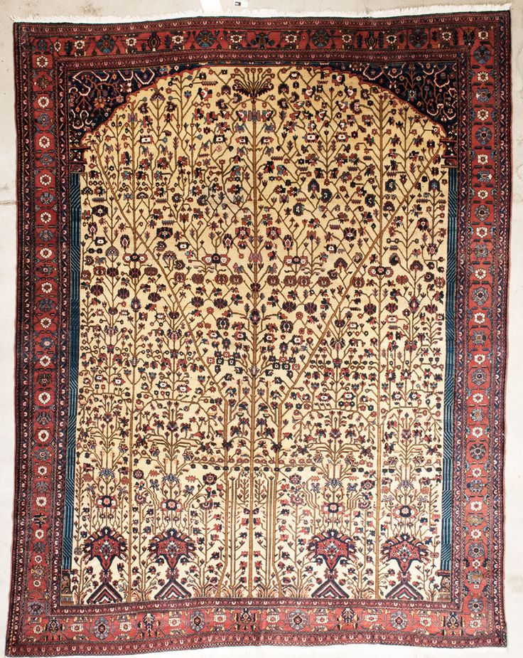 antique abadeh rug  size 12'7″ x 10'0″