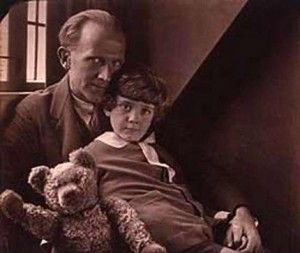 A.A. Milne, his wonderful tone that winks at adults while enchanting children. I love his poetry.