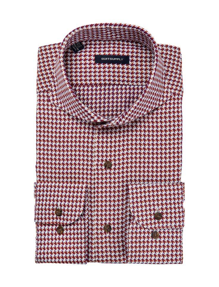 Orange Shirt Single Cuff H4551   Suitsupply Online Store