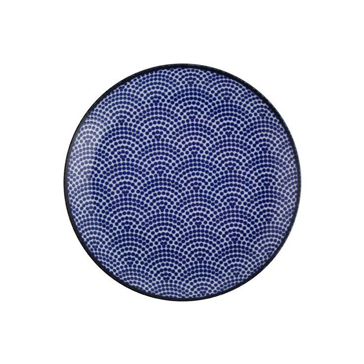 Discover the Tokyo Design Studio Nippon Blue Side Plate - Dot at Amara