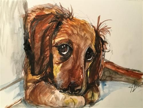 "Daily Paintworks - ""Thankful always"" - Original Fine Art for Sale - © Annette Balesteri"
