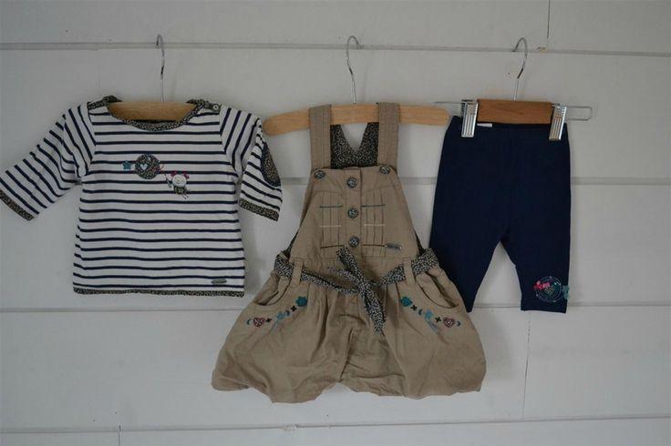 Ensemble 3 pièces: Tee-shirt + Leggins + Robe Sergent Major - 3M
