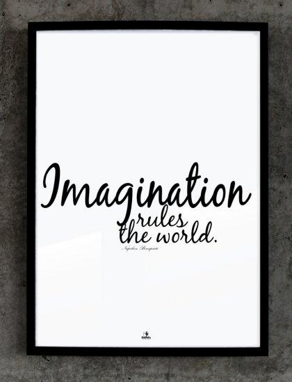 IMAGINATION RULES THE WORLD (proj. Babafu Typography)