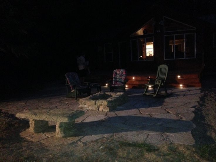 Deck with recessed lighting - flagstone patio and hand formed cement bench - Masonry -  by Stephen Cole