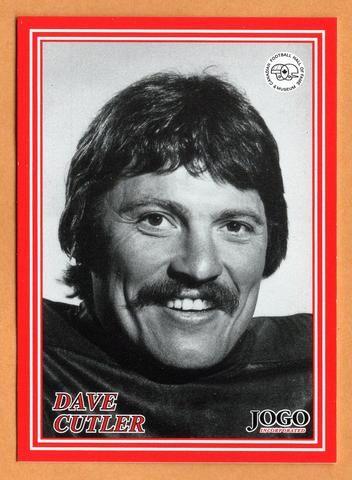 Dave Cutler CFL card 2000 Jogo HOF series E #16E Edmonton Eskimos Simon Fraser Clansmen Hall of Fame