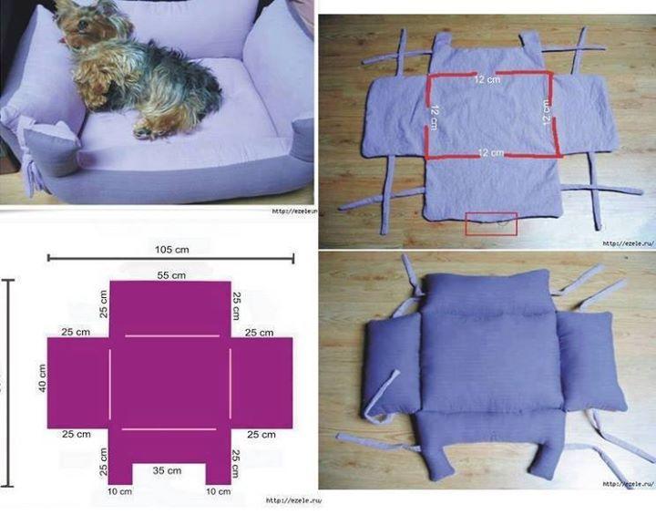 C mo hacer una cama para mascota pets pinterest - Como hacer una cama para perro ...