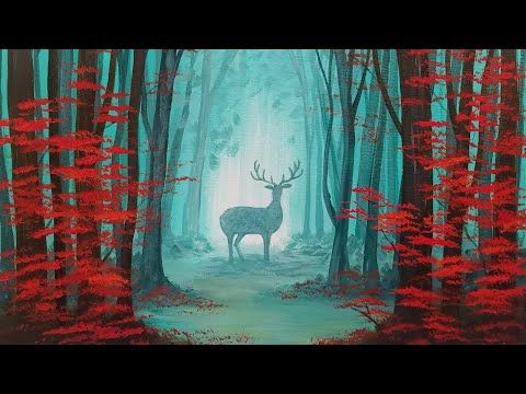 Best 25 acrylic painting tutorials ideas only on for Painting a forest in acrylics