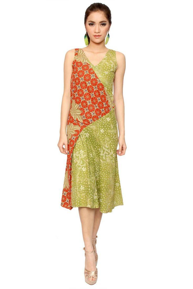 Indonesian batik dress