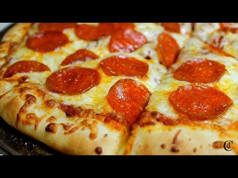 Learn how to make your own pizza crust, pizza sauce and pepperoni pizza that will rival any take-out pizza joint! These are cheaper to make than take-out, do...