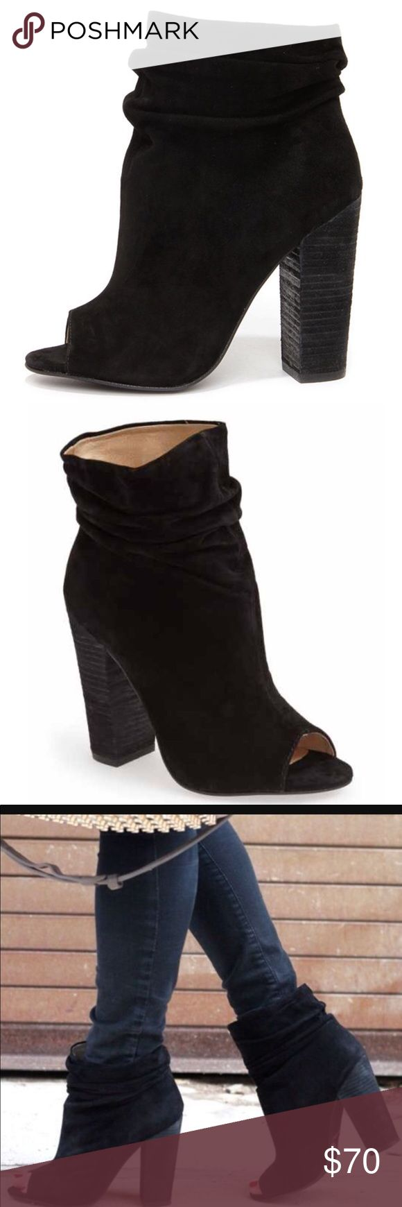 Chinese laundry Kristin cavallari laurel suede Lauren suede bootie. NEVER WORN. can post pics of the actual booties. Stickers still in tact with no scratches. Size 7. Chinese Laundry Shoes Ankle Boots & Booties