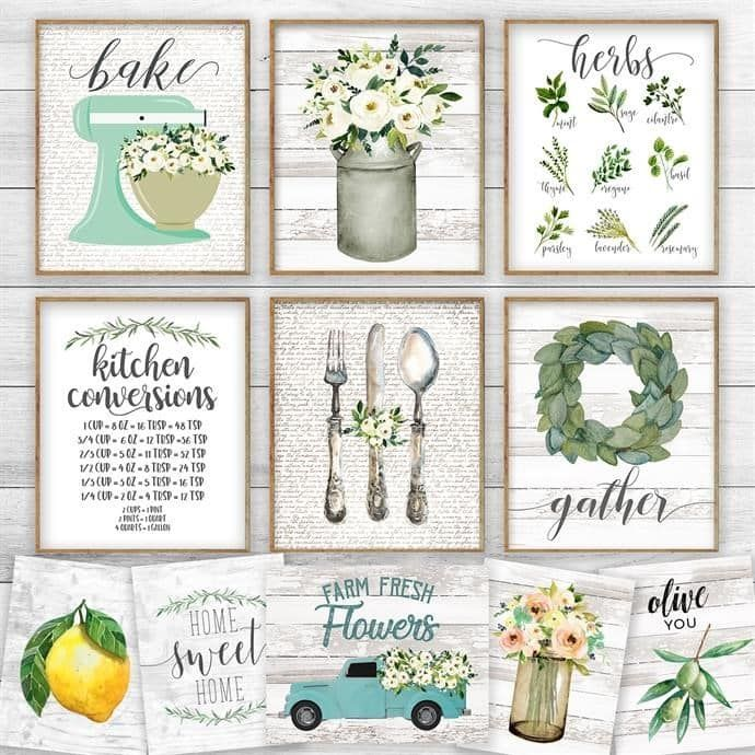 Farmhouse Kitchen Prints With Images