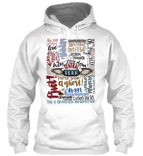 Friends Quote Collage White Sweatshirt Front