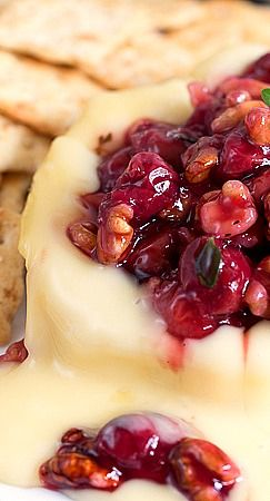 Savory Cherry Compote on Warm Brie....  www.tablescapesbydesign.com https://www.facebook.com/pages/Tablescapes-By-Design/129811416695