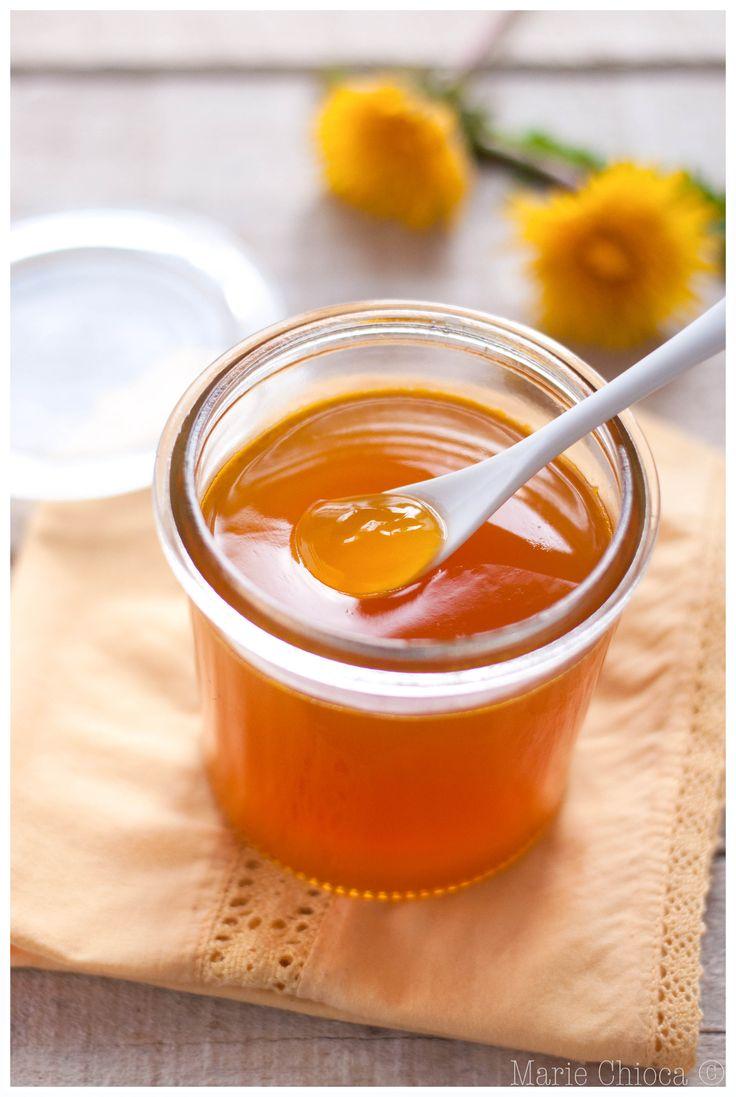 """Gelée de fleurs de pissenlit au citron (recette à IG Bas, """"détox"""" et vegan )"""