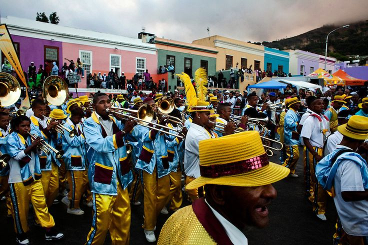 """***The Cape Town Minstrel Carnival, known locally as """"Kaapse Klopse' or 'Coon Carnival' is a longstanding tradition in Cape Town, South Africa, on January 2nd celebrating the only day the slaves were off work in the 1800s. Over ten thousand costumed musicians and dancers parade their way through Cape Town this afternoon signing and dancing. January 2, 2012...Photos: Charlie Shoemaker***"""