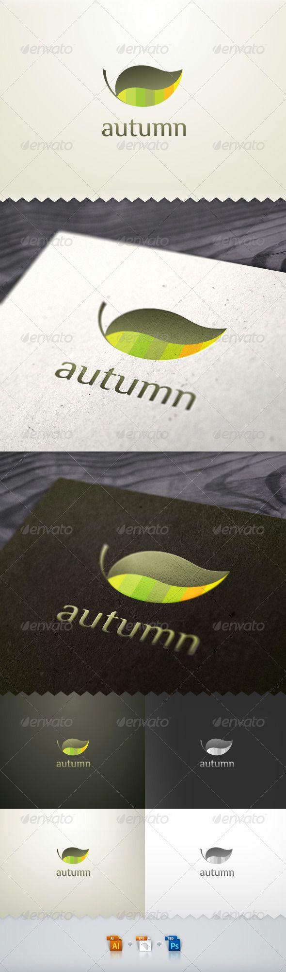 Autumn Leaf Nature Logo