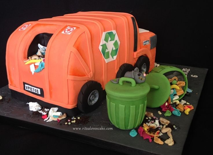 7 Best Rubbish Truck Cake Images On Pinterest Truck Cakes Waste
