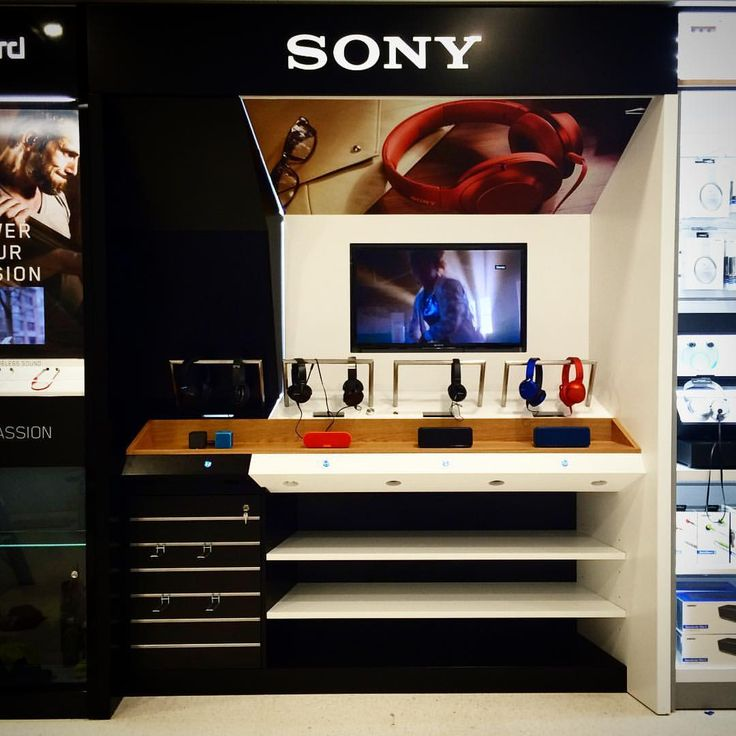 Sony Audio stand in the Auckland International Airport, manufactured for the DE Group