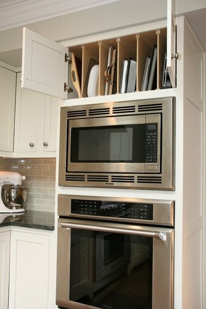 Storage above double oven