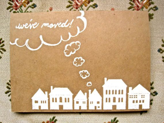 Moving Announcement Card-Set