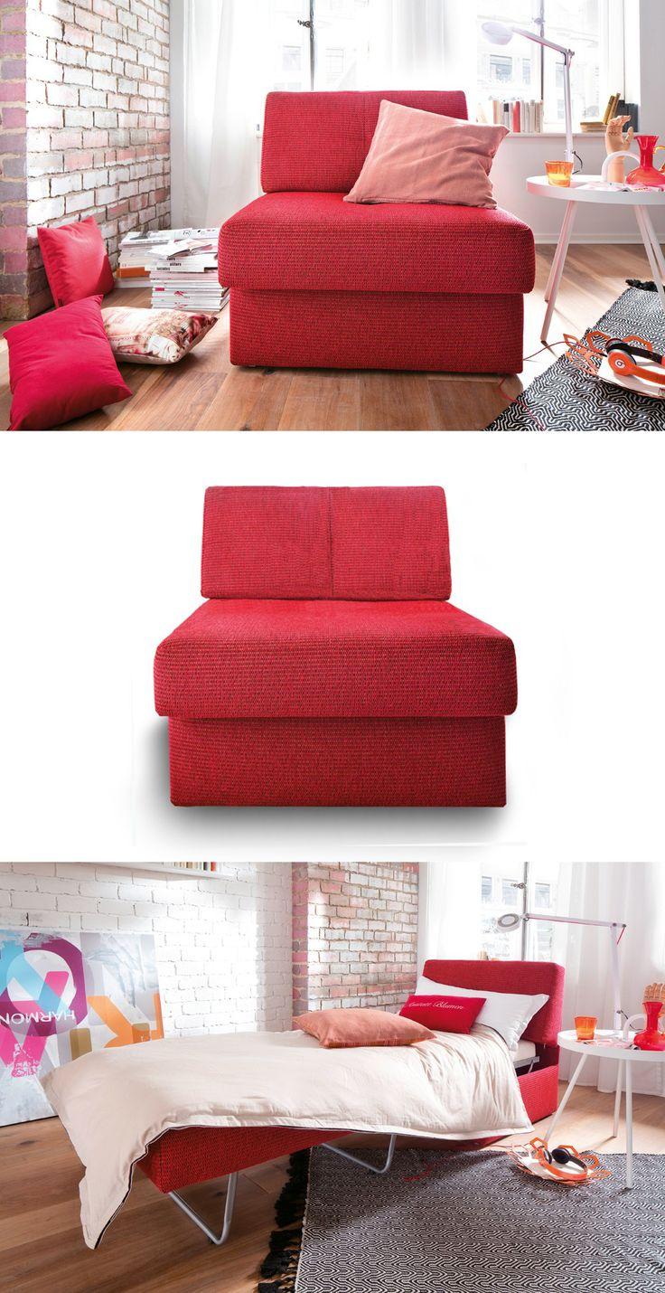 Athena massey red alert pictures to pin on pinterest - Moderner Schlafsessel Amelie In Knalligem Pink Rot Verwandelt Sich Der Sessel Im Handumdrehen In