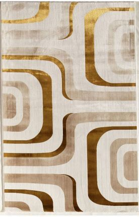 "Rugs America Ambrose Flo Gold Rug in 3'4""x4'7"" OR 4'11"" x 7'6"""