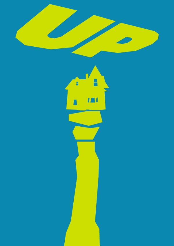 Minimalist Saul Bass influenced movie posters by Lewis Varty, via Behance