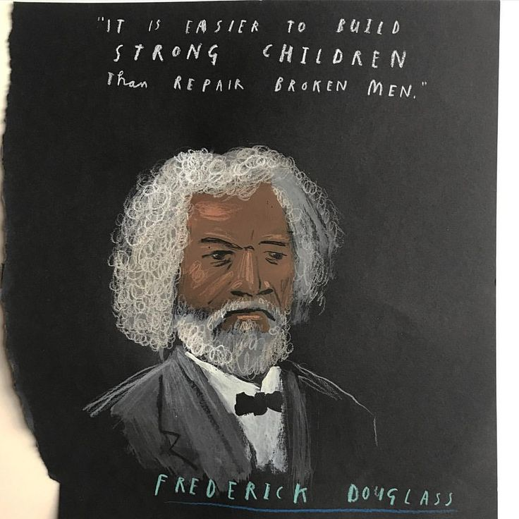 "12.2 k likerklikk, 103 kommentarer – Oliver Jeffers (@oliverjeffers) på Instagram: ""In honour of #BlackHistoryMonth remembering Frederick Douglass, a welcomed friend of Ireland, who…"""