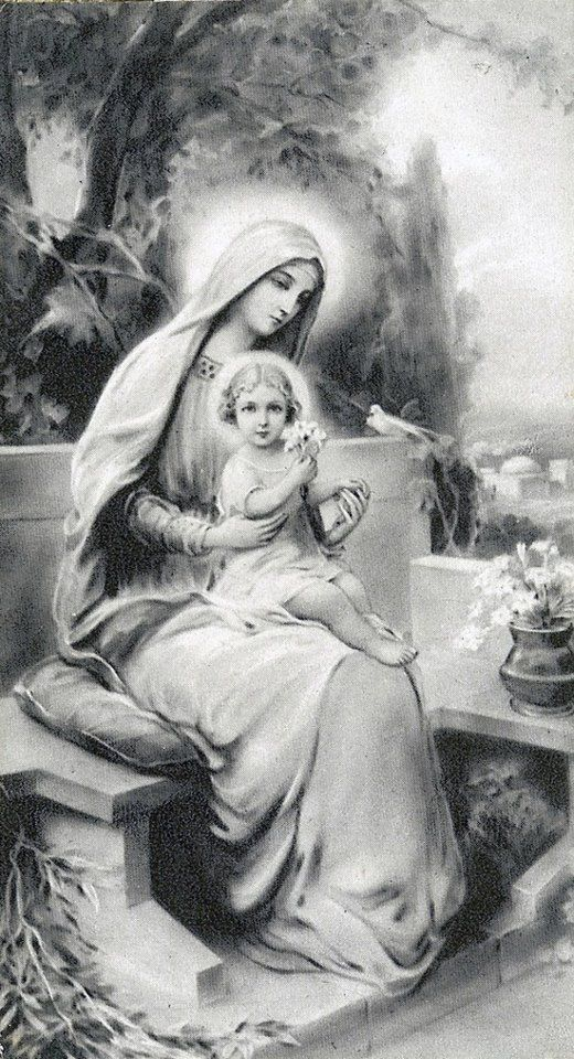 Our lady in black and white