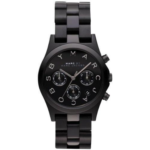 Marc Jacobs Watch Henry Black Aluminum Chronograph Masterbox MBM3524